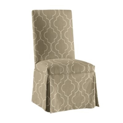 Upholstered Parsons Chair -Castered