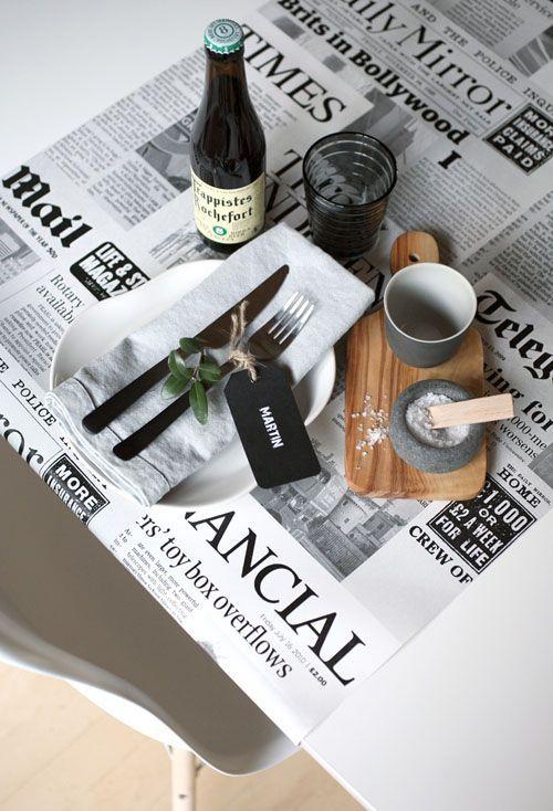 Idea for salt & pepper on tables