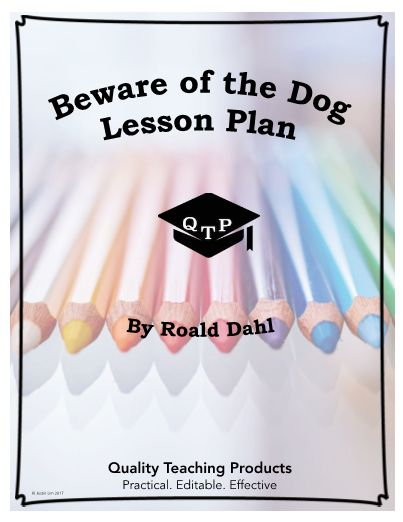 """Beware of the Dog"" by Roald Dahl Worksheet and Answer Key. Save yourself a few hours! This is a worksheet and key for the short story ""Beware of the Dog"" by Roald Dahl. We've included .pdf and editable MS Word formats so that you can customize as needed or use this immediately. These materials are designed to be convenient and ready to use. They do not require any prep and can be used as an emergency lesson. I hope they help!"