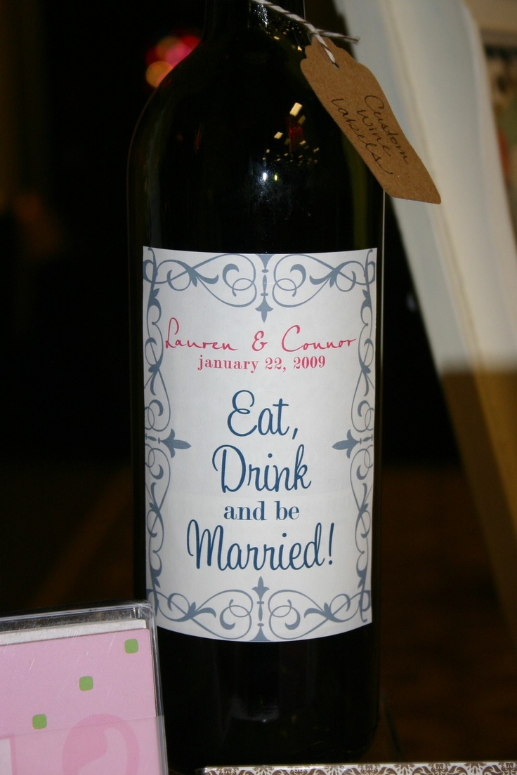 Personalized Wine Bottles For Wedding Gift : Custom Wine Bottle Labels Set of 12 - Perfect for Weddings, Rehearsal ...