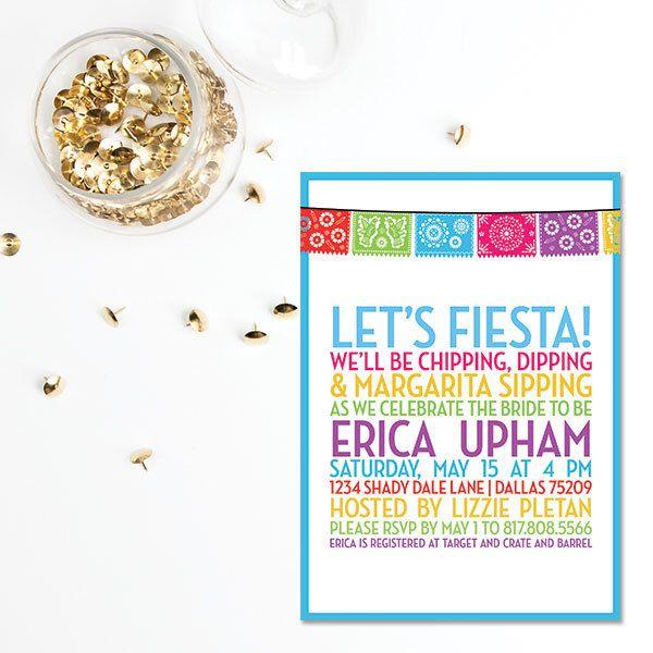 Fiesta Invitation | Bachelorette Bridal Shower Wedding Rehearsal Invitation | Housewarming Party Invitation | Item BR222 by TwoOneSixCreative on Etsy https://www.etsy.com/listing/234384521/fiesta-invitation-bachelorette-bridal