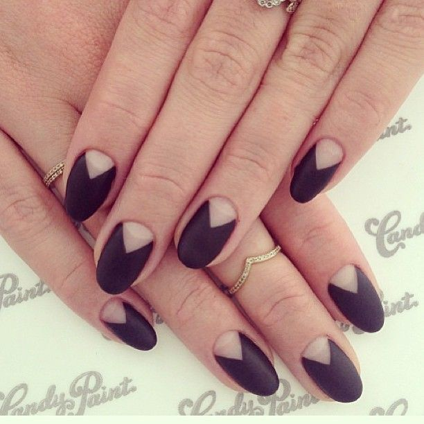 black matte mani: Colour, Nails Inspiration, Nails Art, Nailart, Pretty Nails
