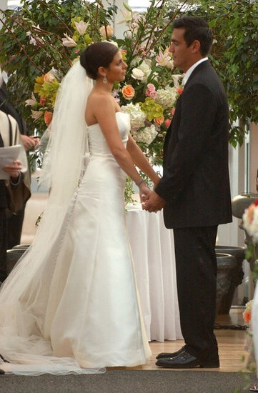It was a NYC ceremony for Jamie-Lynn Sigler and A.J. DiScala in July 2003.