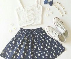 Image via We Heart It #black #blue #converse #cute #earrings #fashion #floral #flowers #inside #jewelry #lightblue #necklace #now #pink #red #shorts #skirt #style #sunglasses #top #tumblr #weheartit #white #croptop #pinterest
