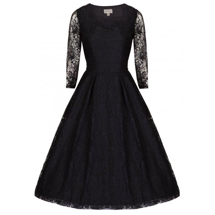 Little Wings Factory - Lindy Bop 'Lisette' Black Lace Dress, £35.00