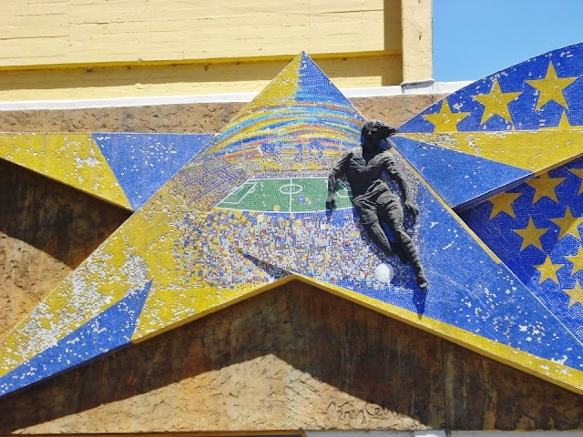 Escudo de Boca Juniors, estadio de Boca, La Boca; Buenos Aires, Argentina.