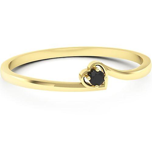Inel logodna L42GDN Inel cu diamant negru