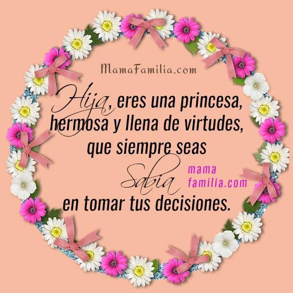 Mensaje A Hija Princesa Palabras De Cumpleaños Tarjetas
