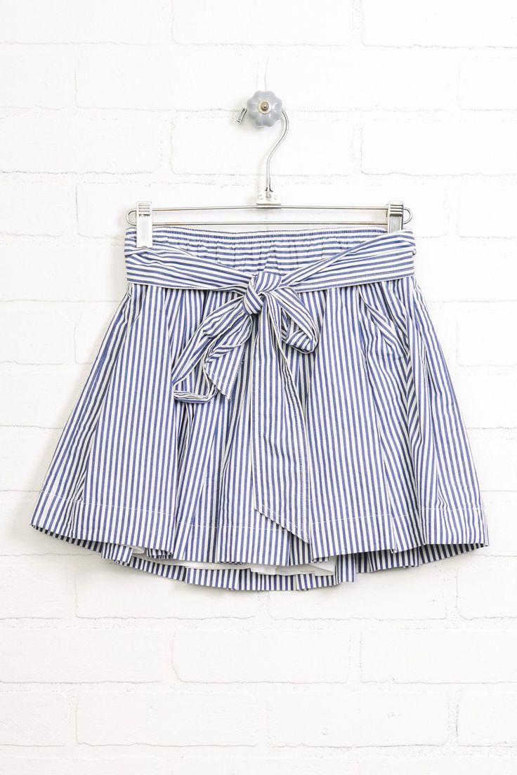 "Size - Small Color - Blue, White Length - 13"" Material - Cotton"