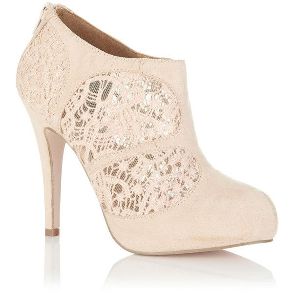 Miss Selfridge Tabitha Nude Lace Panel HeelPretty Shoes, Panels Heels, Fashion, Tabitha Nude, Miss Selfridge, Nude Lace, Lace Booty, Bridal Shoes, Lace Panels