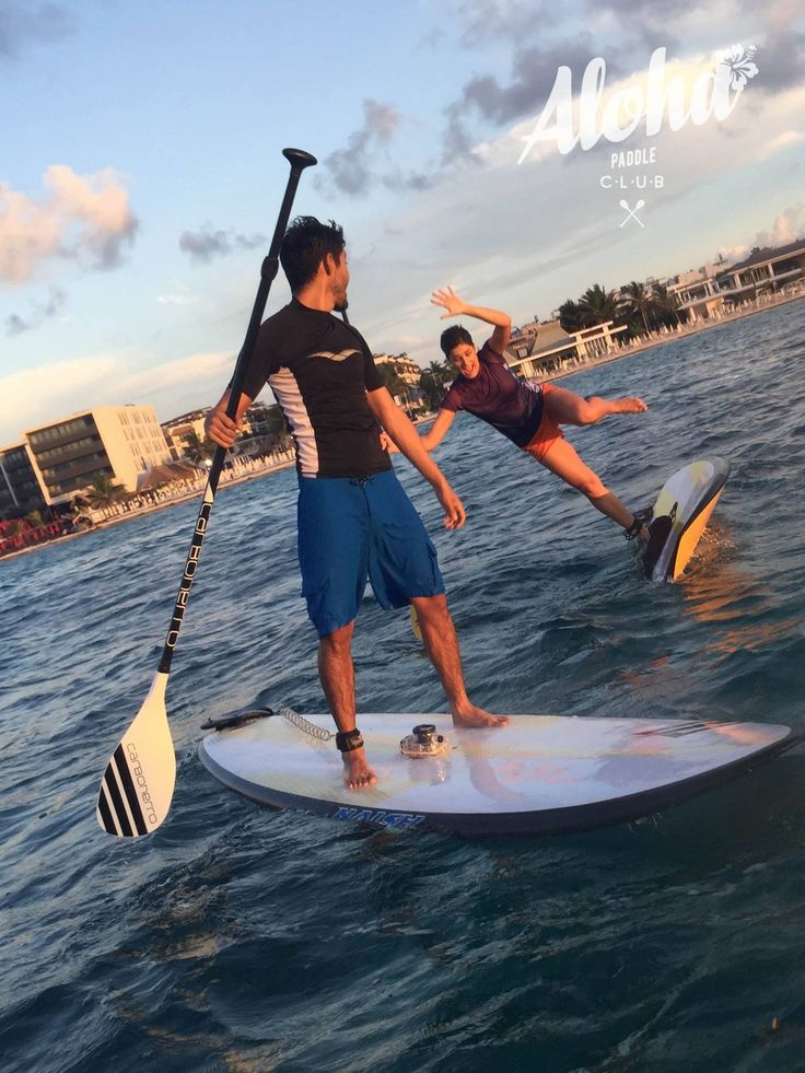 {#LifeStyle} #Paddleboarding is the latest #upandcoming #sportstrend. And even if you fall... the #board and #paddle still make you look #sportychic. wink emoticon Rent any #paddling gear you need in #PlayadelCarmen from the Aloha Paddle Club... #playadelstyle #beachchic #beachstyle #tropics #tropicalstyle #sporty #sportylook #athletic #athleticstyle #fashion