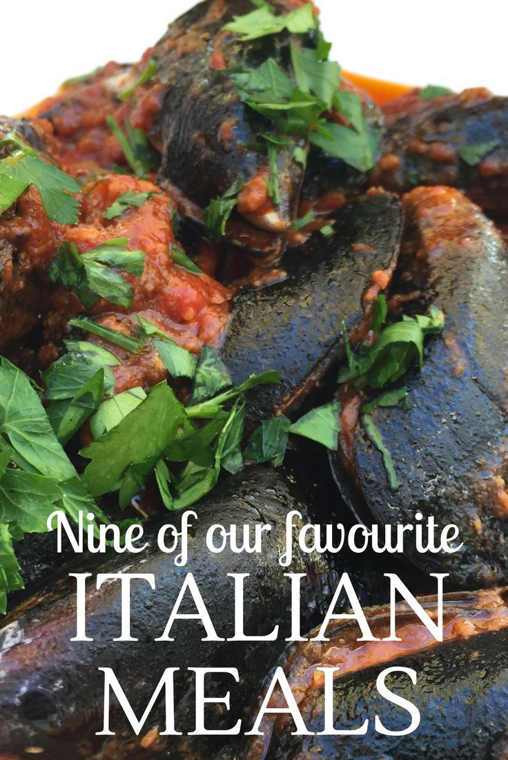 Stuffed mussels and lemon tarts... just a couple of our favourite Italian meals! Italian food is delicious and narrowing it down to nine favourites was tough #acrosslandsea