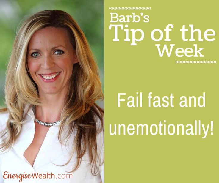 Here is Barb's tip for this week. Failure is always part of our journey towards success.. but how do you do deal with it?  #EnergiseWealth #GetSavvy www.getsavvyacademy.com