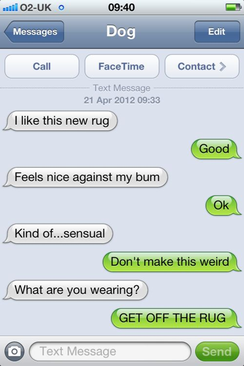 Texts from dog...