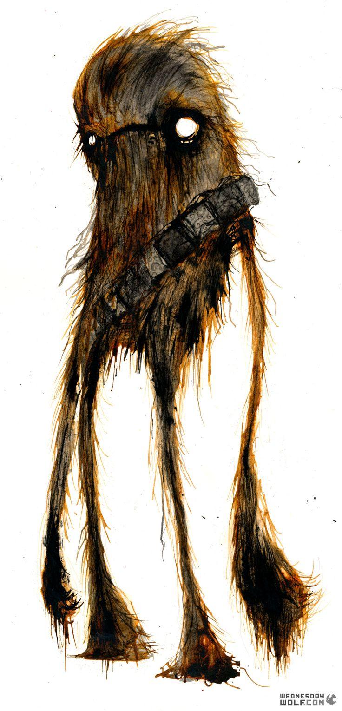 Chewbacca: Character Art, Wednesdaywolf, Watercolor Paintings, Geek Art, Stars War Art, Star Wars, Wednesday Wolf, Character Design, Starwars
