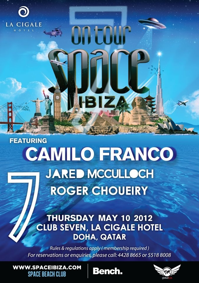The worlds most awarded club and recently voted number 1 club in the world by DJ MAG!      SPACE IBIZA WORLD TOUR  One night only!