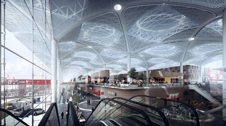 Grimshaw+Releases+New+Images+of+World's+Largest+Airport+Terminal+in+Istanbul
