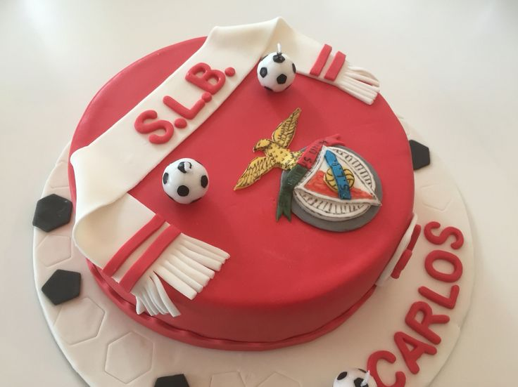 Benfica Cake, it's my Cake nr 100!! So Happy  #benfica