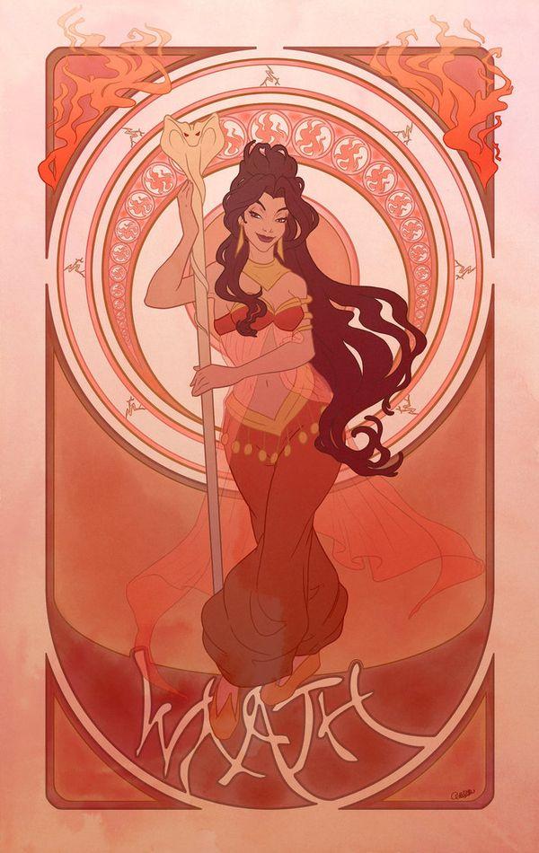 Princess Jasmine is Wrath [Princesses as the 7 Deadly Sins]