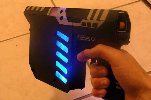 Electromagnetic Coilgun Doesn't Need a License and can be made at home with some various products and handyman abilities.