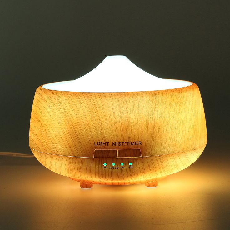 Ultrasonic Color-changing Humidifier Light Wood Grain LED Aroma Diffuser Aromatherapy Spa Essential