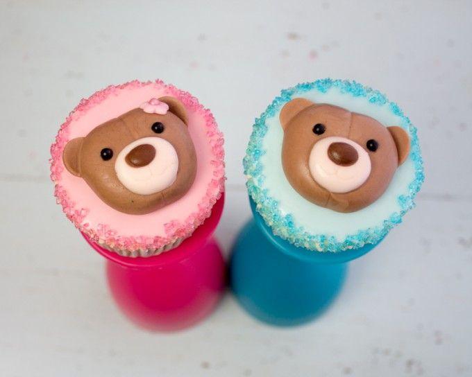 Baby Cupcakes - Teddybeer maken