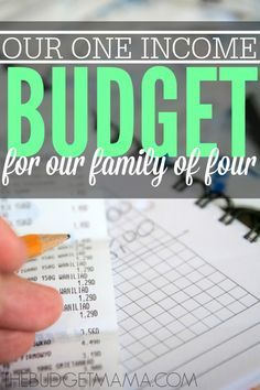 Need a one income family budget example for a family of four? This is my family's real budget with real numbers