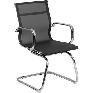 Shop for Silkeborg Transparent Black Mesh Side Reception/Guest Chair w/Chrome Sled Base. Get free shipping at Overstock.com - Your Online Furniture Outlet Store! Get 5% in rewards with Club O! - 22953085