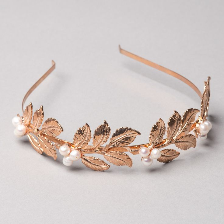 Athena Crown by Shop No.2 - Get the Greek Goddess look and be a modern princess. This gold plated alluring Tiara is hand-finished with freshwater pearls.
