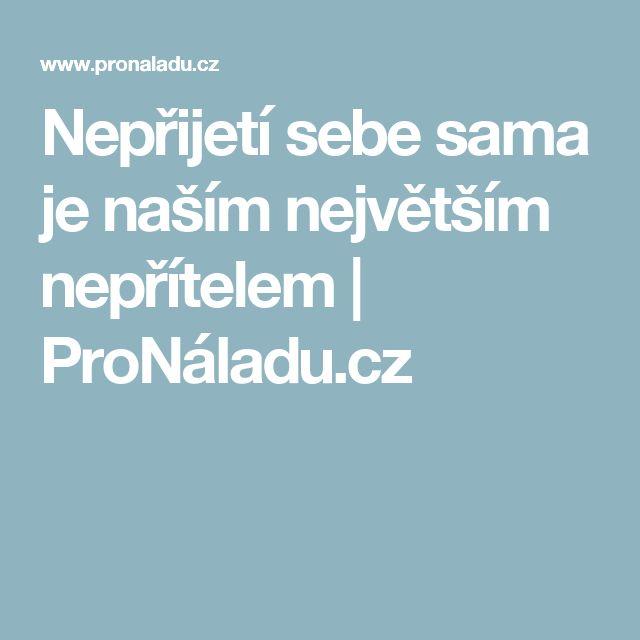 Nepřijetí sebe sama je naším největším nepřítelem   ProNáladu.cz