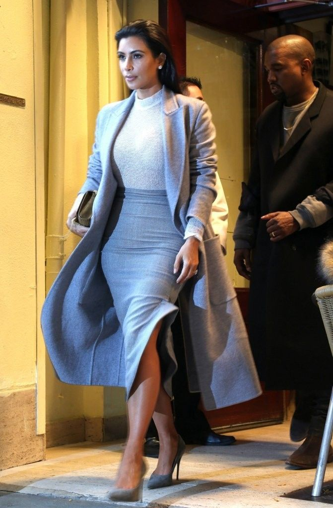 Kim Kardashian and Kanye West Out in NYC November 2014