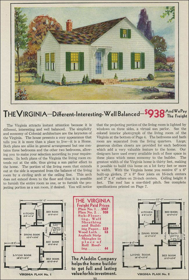 The virginia 1931 aladdin homes floor plans pinterest for Virginia farmhouse plans