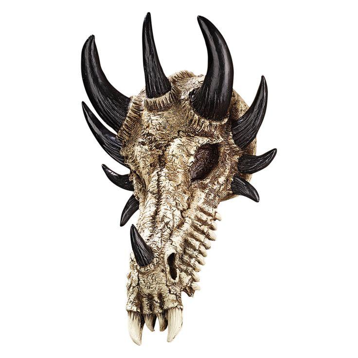 Design Toscano Manchesters Dragon Bones Skull Wall Sculpture - PD203