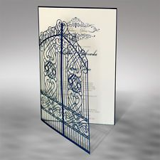 Gate Wedding Invitations Laces Laser Cut Free P*P FREE ENVELOPES
