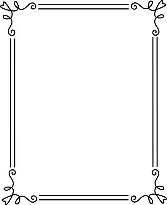 borders and frames simple elegant black frame 2 free clip art