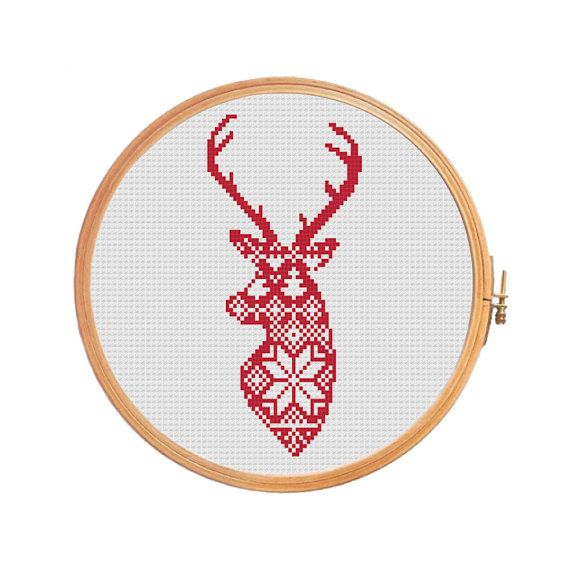 Deer nordic pattern - cross stitch pattern.  Floss: DMC Canvas: Aida 14 Grid Size: 44W x 85H Design Area: 3,00 x 5,93 (42 x 83 stitches)  Number of colors: 2  Use 2 strands of thread for cross stitch.  ONLY PATTERN! This PDF file counted cross stitch pattern is available for instant download.  This PDF pattern Included: - Color image of the finished design - Color Block Chart - Color Floss Legend with DMC stranded cotton.  In order to open these files you will need Adobe Reader, which can…
