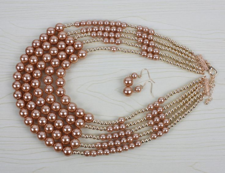 pearl jewelry new fashion multi layer strand bead trendy choker statement necklace women party jewelry 6280