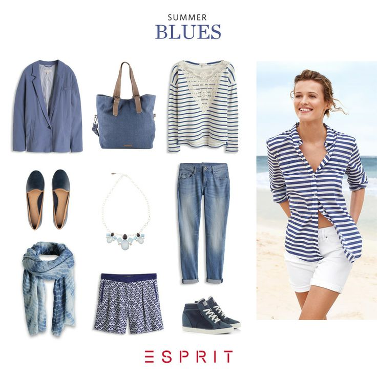Ahoy #sun worshippers! Like a sunny, #summer #sky... Discover our #cool #Esprit summer #styles in #blue