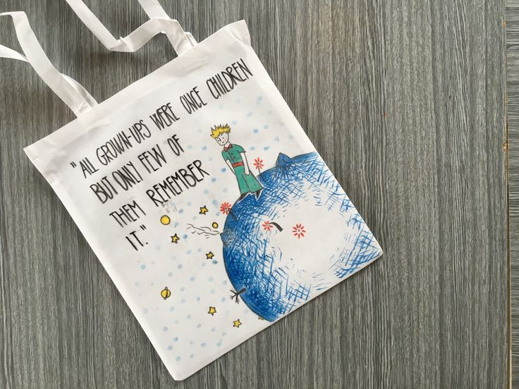 Malý Princ barvami na textil. :-) / The Little Prince painted with textile colours.