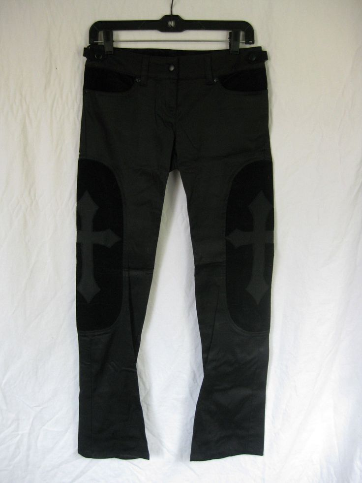 LIP SERVICE Black MEtal pants #52-66 - size L-XL