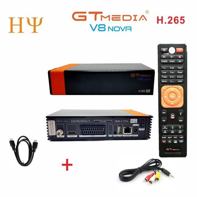 2pcs Lot Gtmedia V8 Nova Dvb S2 Satellite Receiver Support H 265 Cccam Newcamd Power Vu Better Freesat V8 Super V9 Super Review Satellite Receiver Satellite Tv Satellites