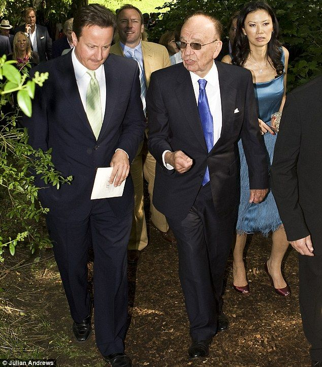 Revealed: David Cameron's secret meetings with Rupert Murdoch that he didn't disclose | Mail Online