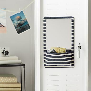 Northfield Navy Stripe Locker Mirror Pocket #pbteen