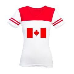 Canadian Flag Jr. Football T-Shirt > Canada - Click To Enter > The Art Studio by Mark Moore