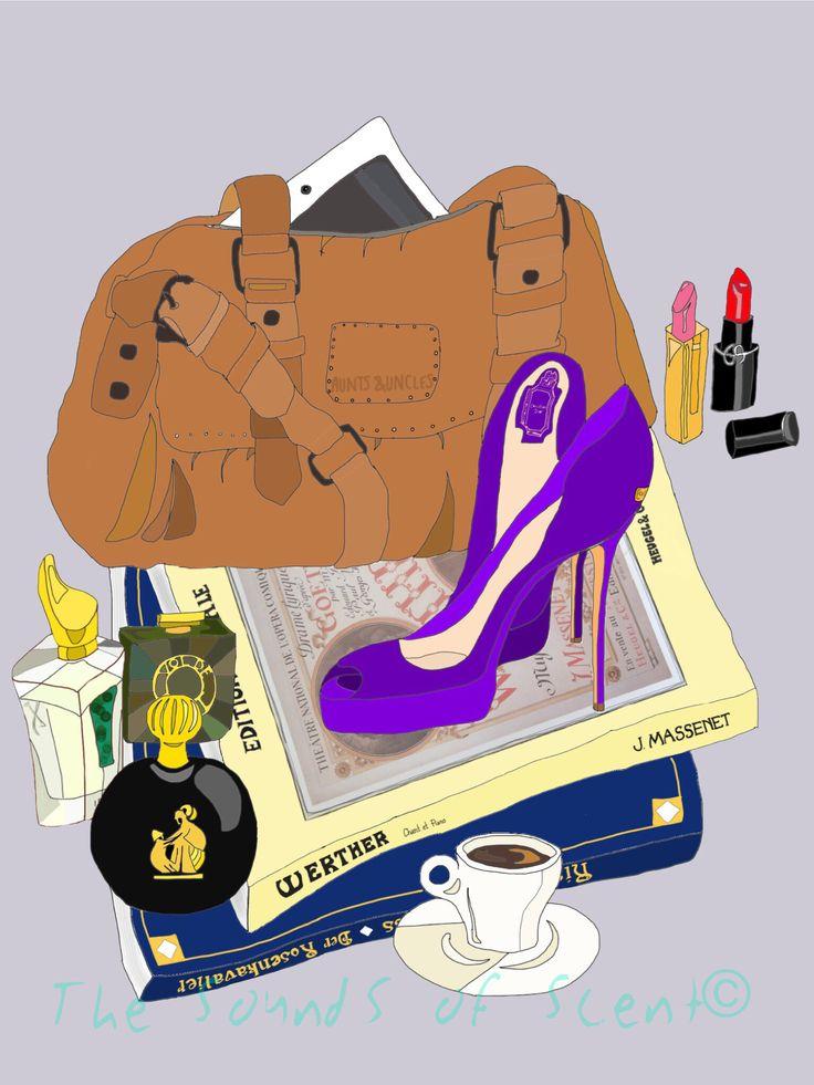 What's in my bag (sort of). Irisss, Arpege, vol de nuit