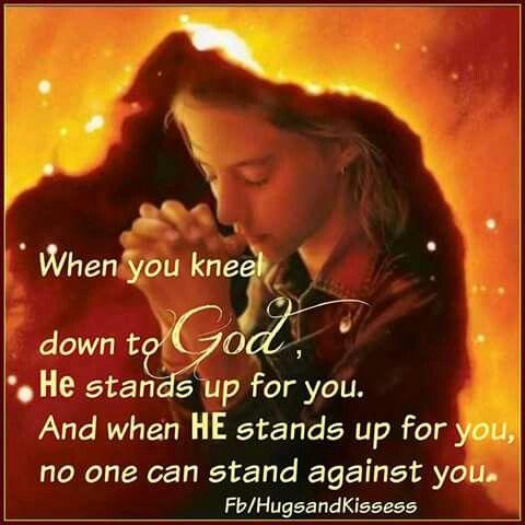 Kneeling And Praying To The Wong God
