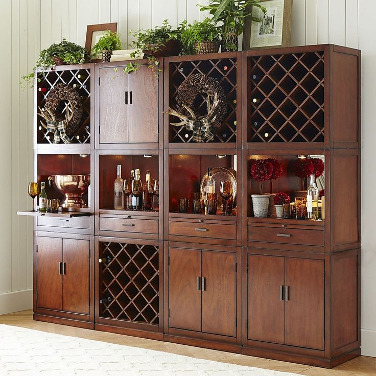 build your own harvey tobacco brown bar cabinet collection