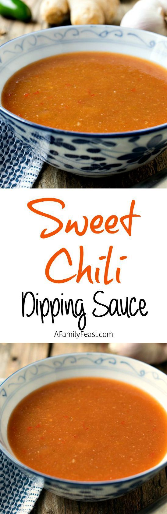 Sweet Chili Dipping Sauce - The perfect, easy dip to serve alongside coconut chicken, vegetables or chicken nuggets but also delicious on tacos!