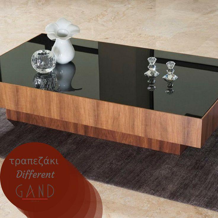 Ψάχνετε ένα...διαφορετικό τραπεζάκι για το σαλόνι σας; Μία είναι η επιλογή τότε: το τραπεζάκι Different της Gand από ξύλο αμερικάνικης καρυδιάς και μαύρο τζάμι! Δείτε το εδώ http://bit.ly/2hrdJNT #Gand #EpiplaGand