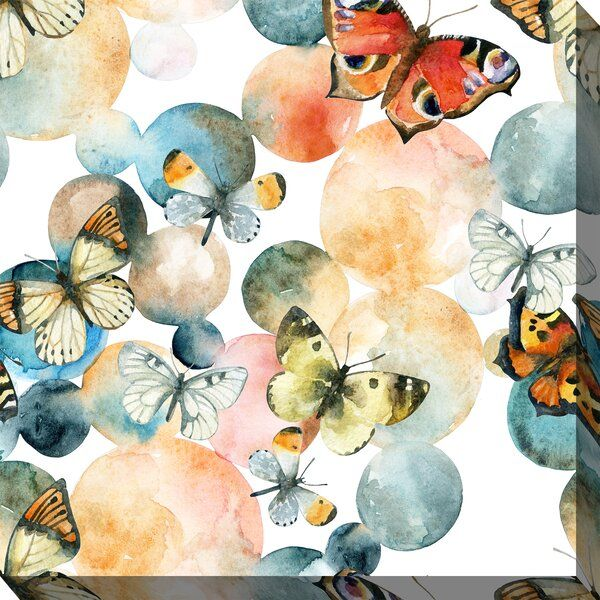 Fairbourne Butterfly Bubble Outdoor Wall Decor In 2020 Square Wall Art Outdoor Wall Decor Watercolor Circles